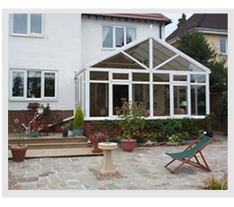 Example of Gable front or Pavillion style conservatory