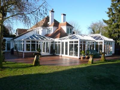 L shaped conservatory